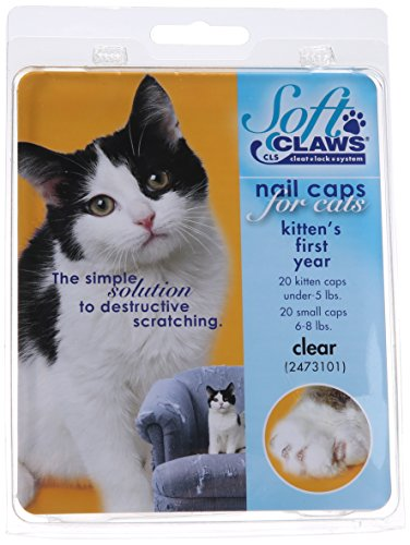 Feline Soft Claws Nail Caps Kitten Clear