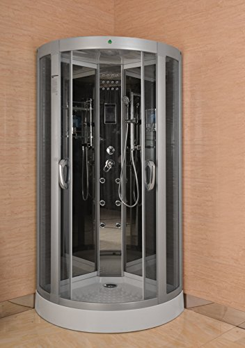 Luxury Kokss 9040 Shower enclosure 36″ x 36″ Multi function hand shower overhead rai ...