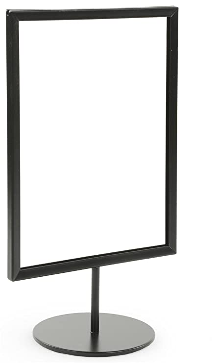 Amazon.com : Displays2go 8.5 x 11 Inches Pedestal Sign Frames for ...