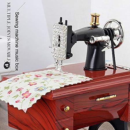 Wjtence R/étro Mini Machine /à Coudre Bo/îte /à Musique R/étro Cadeau Table Home Decor A