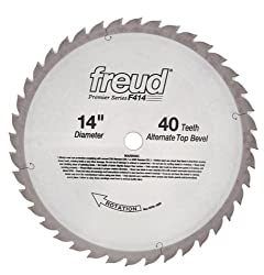 Freud F414 Premier 14-inch 40 Tooth Atb Saw Blade With 1-inch Arbor