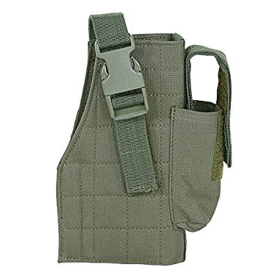 Voodoo Tactical Men's Tactical Holster with Attached Mag Pouch, Olive Drab