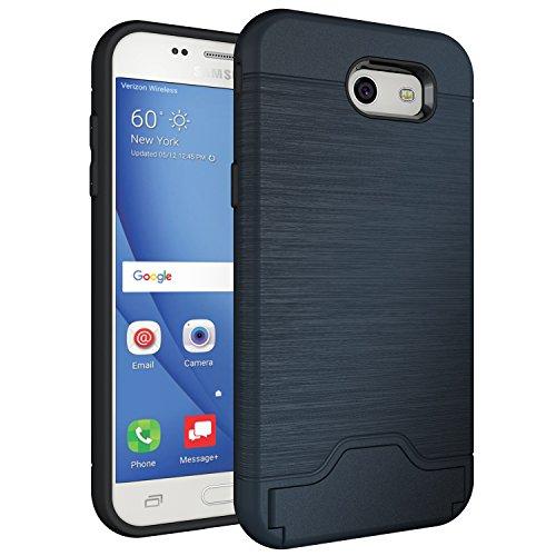 Galaxy J3 Prime Case,Galaxy J3 Eclipse/J3 Mission/J3 Emerge/Amp Prime 2/Express Prime 2/Sol 2/J3 Luna Pro/J3 2017, Hard Hybrid Cover with Card Slot & Kickstand for Samsung Galaxy J3 2017 J327