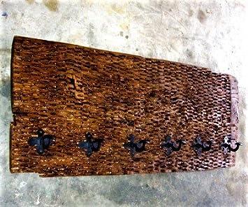 Perchero Rústico de Antiguo Trillo, 120cm x 51cm x 15cm, Muy ...