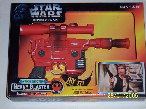 Star Wars Power of the Force Electronic Heavy Blaster BlasTech DL-44 with Electronic Laser Sounds
