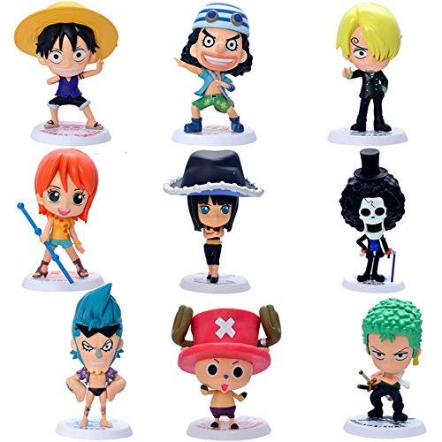 Coz' Place Set of 9 Pieces Mini One Piece Action Figures with Stands (Original Version)