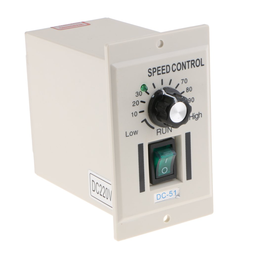 Baoblaze AC 220V Single Phase Motor Speed Controller Knob Switch DC 0-220V Adjustable