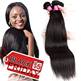 Mink 8A Brazilian Virgin Hair Straight Remy Human Hair 4 Bundles Deals (22'' 24'' 26'' 28'') 100% Unprocessed Brazilian Straight Hair Extensions Natural Color Weave Bundles
