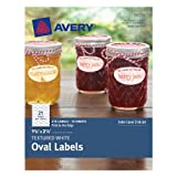 Avery Textured Oval Labels, White, 1.125 x 2.25 Inches, Pack of 210  (8216)