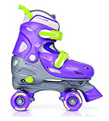 Chicago Girl's Adjustable Quad Skate, Purple/Silver,