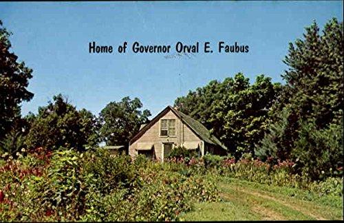 home-of-governor-orval-e-faubus-huntsville-arkansas-original-vintage-postcard