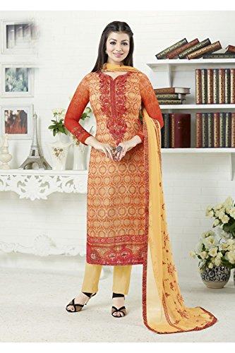 Da 5 Salwar Indian Ethnic Partywear Anarkali Orange Kameez Women Facioun Designer Traditonal TrqRPTw