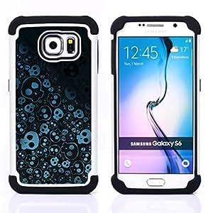For Samsung Galaxy S6 G9200 - Wallpaper Skulls Skeleton Drawing Sketch /[Hybrid 3 en 1 Impacto resistente a prueba de golpes de protecci????n] de silicona y pl????stico Def/ - Super Marley Shop -