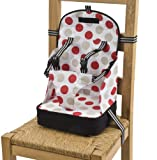 Baby Polar Gear Booster Seat 5 Point Black & Large Spot Print