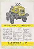 1959 Labourier Type HL4 Industrial Logging Tractor Truck Brochure French