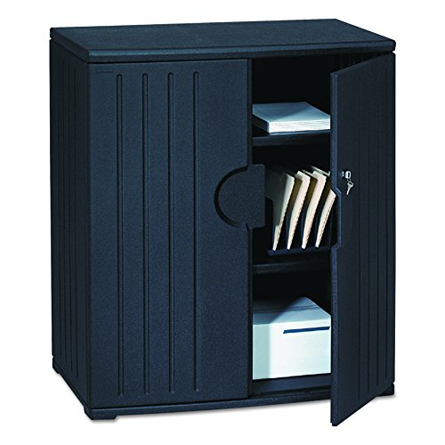 Iceberg ICE92561 OfficeWorks High-Density Plastic Storage Cabinet, 22 Length x 36 Width x 46 Height, Black