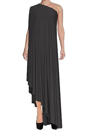 1ef4d278c4c E K Sexy one Shoulder Asymmetric Maxi Dress Plus Size Long Formal Evening  Gown