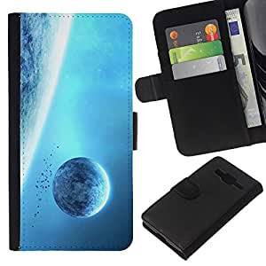 KingStore / Leather Etui en cuir / Samsung Galaxy Core Prime / Spazio
