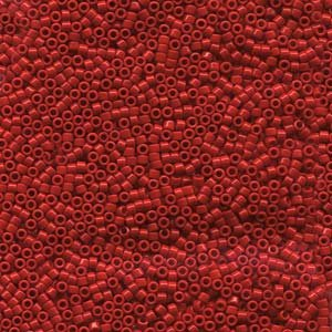 Red Seed Bead - Miyuki Delica Seed Beads 11/0 Opaque Red 7.2 Gram DB723 7.2 Grams