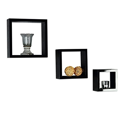 Cheap Cool Interesting Er Set Wandregal Wrfelregal Hngeregal Bcherregal  Cdregal Schwarz Eckig Cube Amazonde Kche U Haushalt With Wrfelregale Fr Die  Wand ...