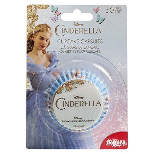 CINDERELLA Cupcake Cases Capsules x50 DeKora