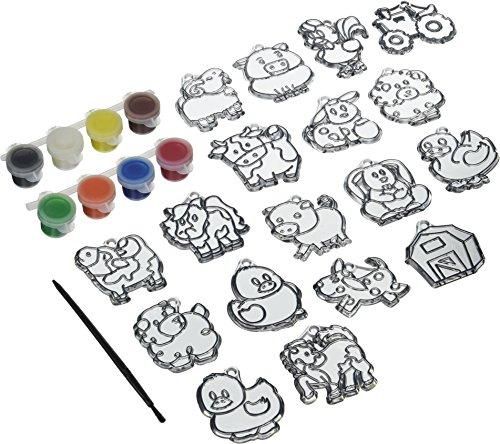 Kelly's Crafts Kidz Sparkle Suncatcher Activity Kit: Fun Animal 22 pieces