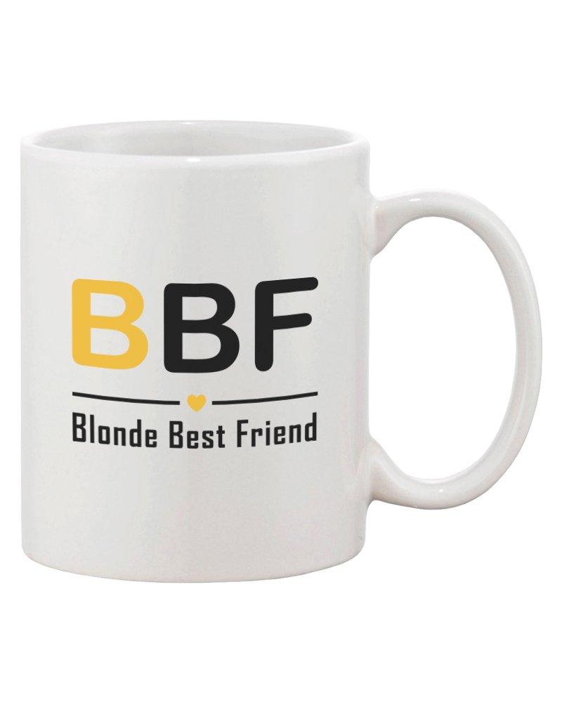 Amazon.com | Cute Matching Coffee Mugs for Best Friends - Brunette ...