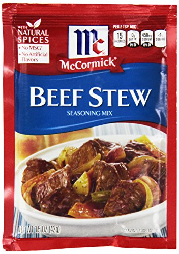 McCormick Beef Stew Seasoning Mix, 1.5 oz, Pack of 12 (Best Beef Chuck Roast)
