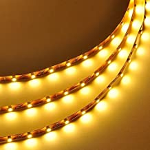 RioRand 16.4 Feet (5 Meter) Flexible LED Light Strip with 300xSMD3528 and Adhesive Back, 12 Volt (5M Strip Warm White 2700K)