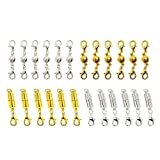 Dsmile 6 Pcs Gold Color and Silver Color Magnetic Lobster Clasps for Jewelry Necklace Bracelet