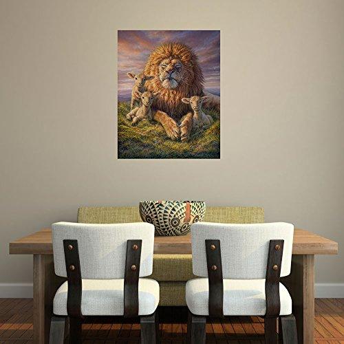 My Wonderful Walls Wildlife Painting Wall Decal Lion Lamb...