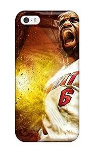 DanRobertse Scratch-free Phone Case For Iphone 5/5s- Retail Packaging - Sports Nba Basketball Lebron James Miami Heat