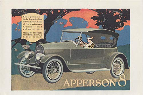 Permanence in the distinctive lines & stalwart chassis Apperson 8 ad 1918 H