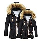Vovotrade Unisex Jacket Women/Men Outdoor Outfits Warm Winter Long Hood Coat (2XL, Black)