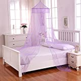 Fantasy Kids Galaxy Kids Collapsible Hoop Sheer Bed Canopy, One Size, Purple