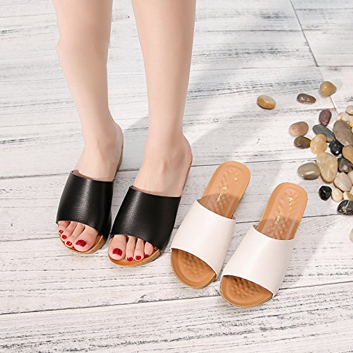 Slippers Black Summer Summer Sandals And Sandals xdIXqqg5