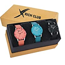 Rich Club Quartz Movement Analogue Multicolour Dial Wo