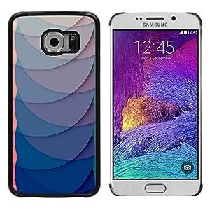 Be Good Phone Accessory // Dura Cáscara cubierta Protectora Caso Carcasa Funda de Protección para Samsung Galaxy S6 EDGE SM-G925 // Paper Scale Pattern Green Clean