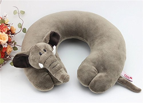 - Comfspo Baby Kids U Neck Animal Cartoon Shape Soft Travel Kids Neck Pillow