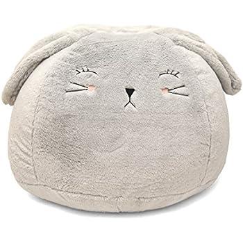 Amazon.com: Heritage - Puf para niños, Grey Bunny: Toys & Games