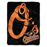 The Northwest Company MLB Baltimore Orioles Micro Raschel Plush Throw Blanket, Trip Play Design