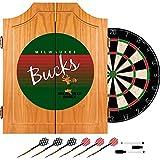NBA Milwaukee Bucks Wood Dart Cabinet, One Size, Brown