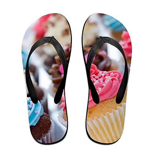 Unisex V Flip Flops Rainbow Chocolate Cupcakes Coffee Personalized Summer Slipper