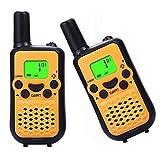 Kids Walkie Talkies, 2 Pack of HOTOR Durable 22 Channel UHF Handheld Walkie Talkies for Kids, 3.7 Miles Rang