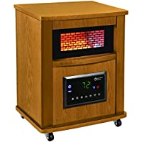 Comfort Zone 16 Inch Infrared Quartz Wood Cabinet Heater (Oak)