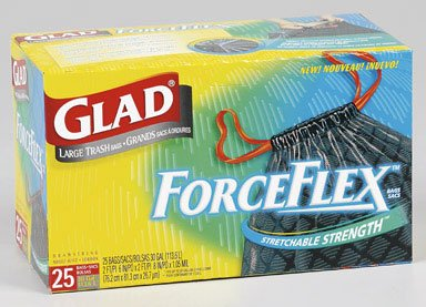 Glad Trash Bag Force-Flex Large 30 Gal. 25 / Box