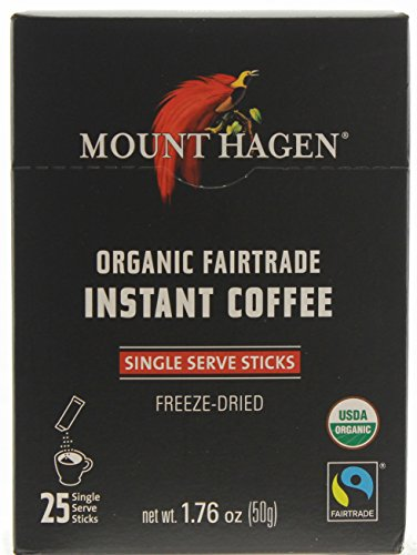Mount Hagen Organic Point Regular Coffee, 25-Count Single Serve packets  (Pack of 4)
