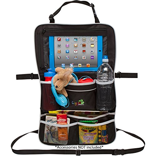 Rugged Universal Backseat Car Organizer   Includes iPad Holder & Large Drink