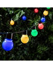 Lights4fun - Guirnalda de Luces LED con 30 Bombillas Multicolor