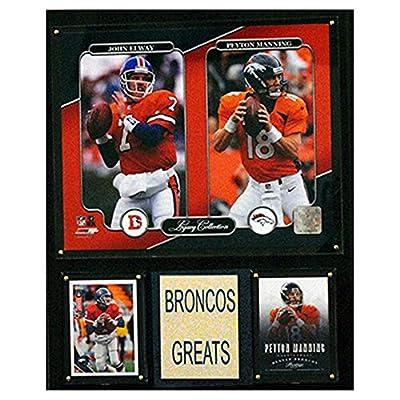 NFL Denver Broncos John Elway/Peyton Manning 12x15-Inch Legacy Collection Plaque